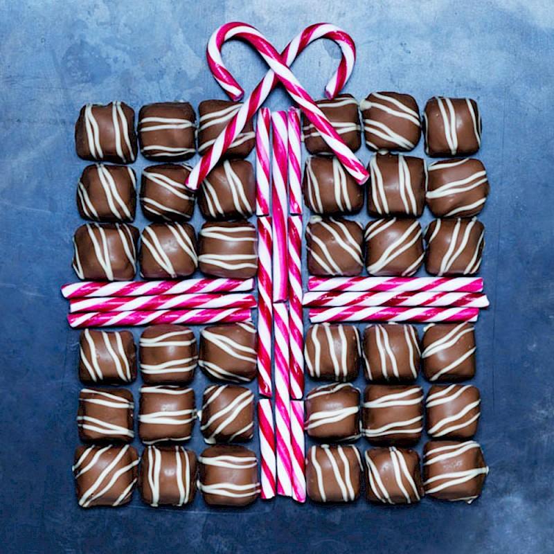 Gift Box Pattern With Chocolates Karen Thomas Photography